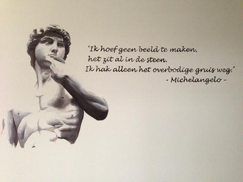 Muurschildering Michelangelo