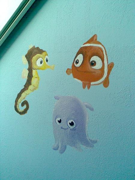 findingnemo muurschildering