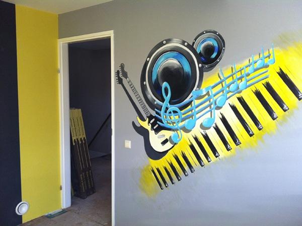 muurschildering muziek2