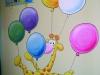 Giraf met balonnen