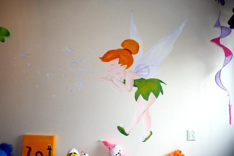 tinkerbell muurschildering