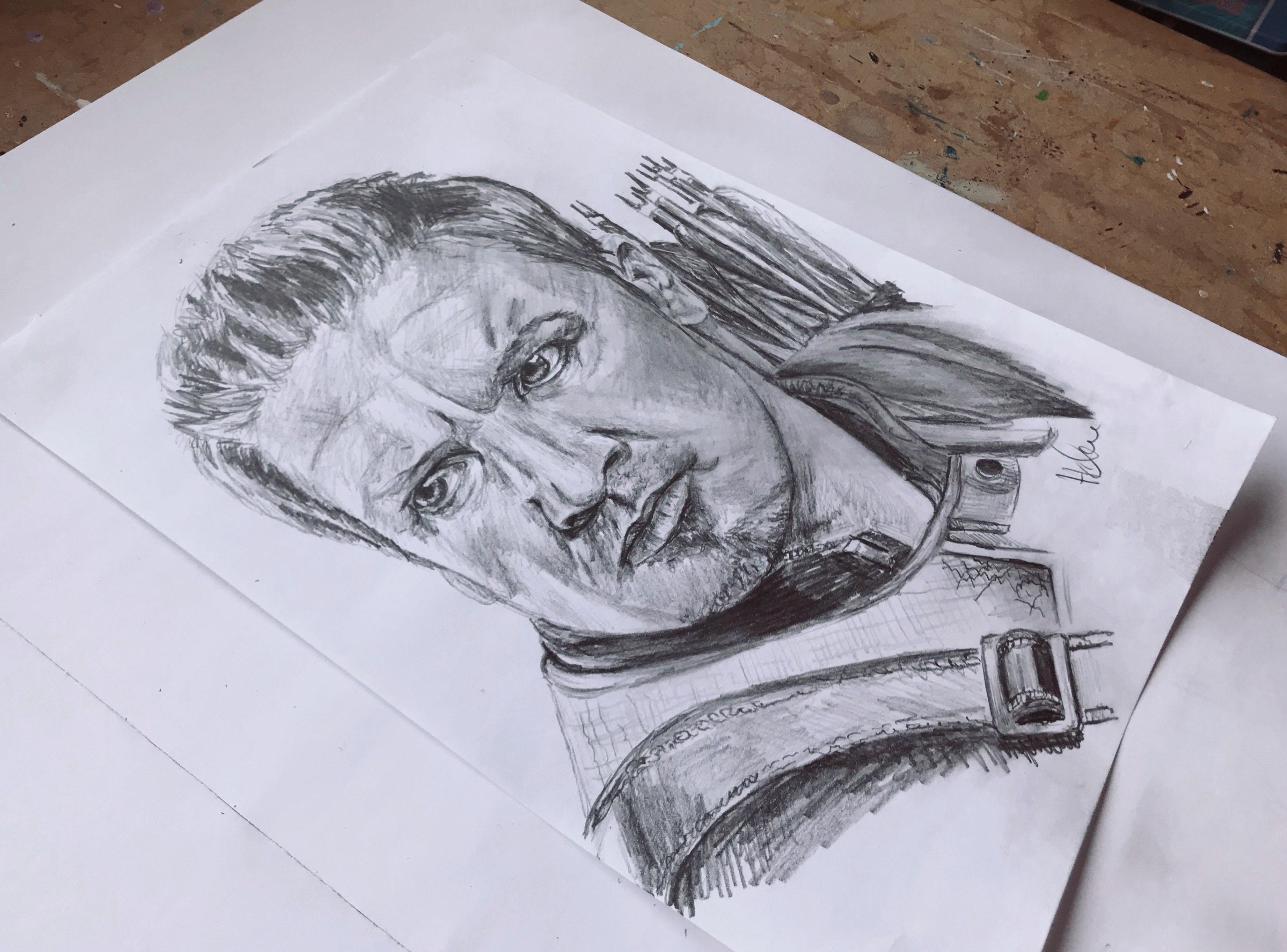 Portret tekening Hawkeye
