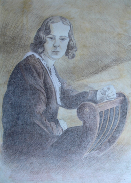 omadezwart Portret tekening