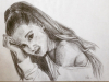 Portret tekening Ariane Grande