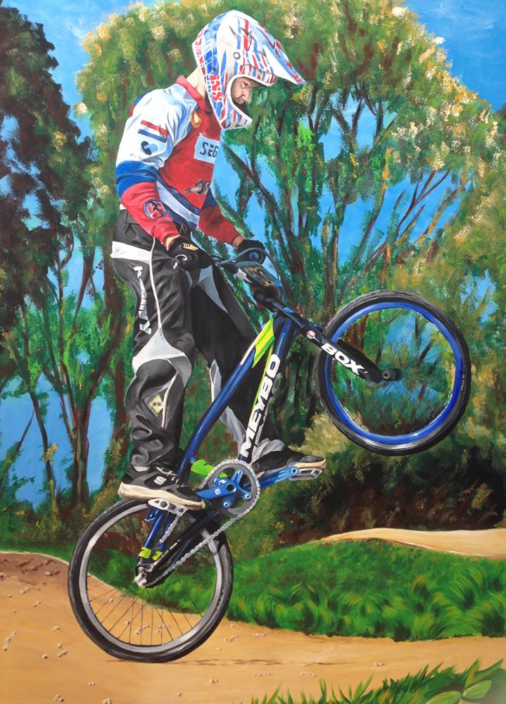 BMX muurschildering