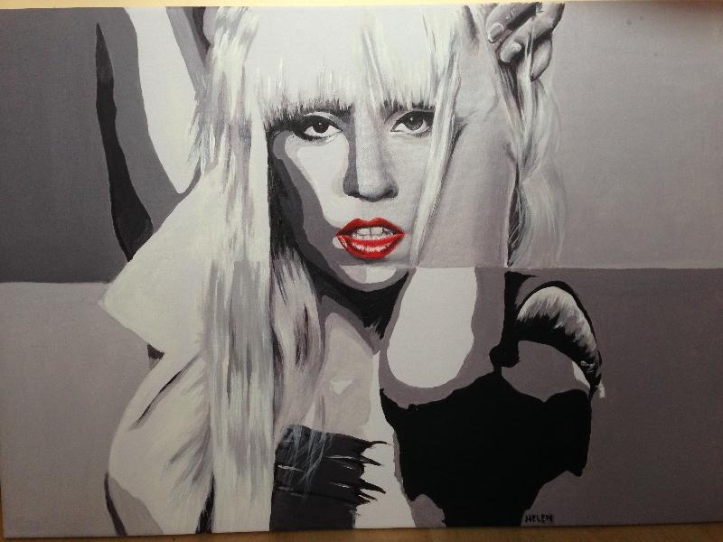 Lady Gaga schilderij