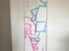 Groeimeter muurschildering
